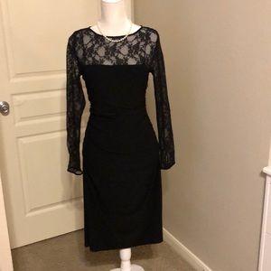 American Living Black Lace Formal Evening Dress